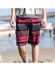 PZLL Cortocircuitos de la playa de los hombres del verano, surf cortocircuitos de los hombres, cinco pantalones y auge del ocio de la impresión , red wine , l