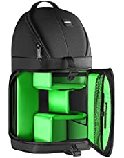 Neewer Professional Camera Case Sling Backpack for Nikon Canon Sony and Other DSLR Cameras and Lens,Tripod,Other Accessories,Durable Waterproof and Tear Proof Bag with Padded Dividers(Green Interi