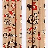 Rote Mine brauner Bleistift mit süßem Ojipan Panda Tier Ei Ketchup Schneebesen