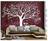 BDECOLL Grand sticker mural pour salon chambre Stickers muraux de décoration,Chambre Autocollant Mural Oiseaux Accueil Decal Mural Art Decor
