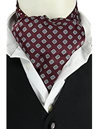 Wine Reversible Spot Cravat
