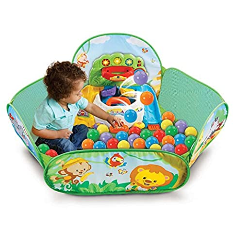 Vtech Colourful Battery Operated Musical Pop-a-Ball Pit with Interactive Discovery Panel for Learning Colours, Animals and Numbers (9-36