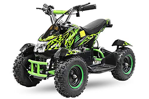 Eco Mini Kinder Quad 800W inkl. 3-Stufen Drossel ATV Bike Elektrobquad Pocketquad C500W Orange