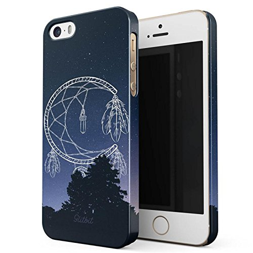 Glitbit Yin Yang Mandala Nature Landscape Mountains Forest Tumblr Sottile Guscio Resistente In Plastica Dura Custodia Protettiva Per iPhone 5 / 5s / SE Case Cover Moon Dreamcatcher