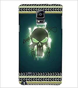PrintDhaba Skull D-2521 Back Case Cover for SAMSUNG GALAXY NOTE 2 (Multi-Coloured)
