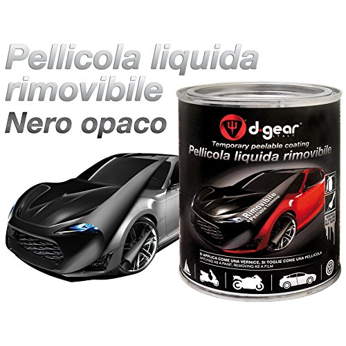 D-GEAR Vernice-Pellicola a Spruzzo Rimuovibile, Nero Opaco