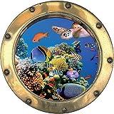 TATOUTEX Aufkleber L Auge Deko Fische Schildkröte OEM: Bullauge 1133, 30x30cm