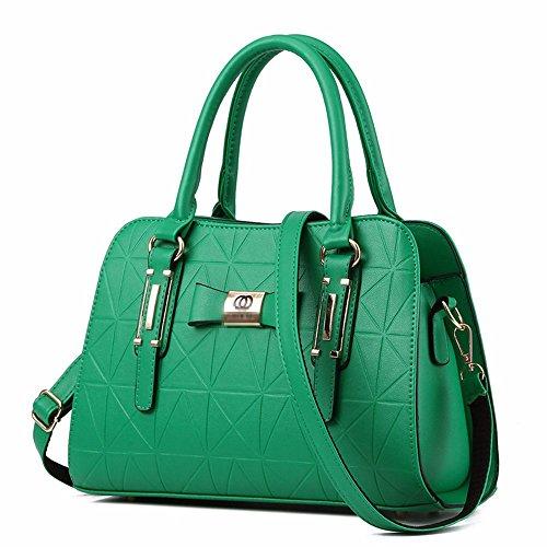 BMKWSG Damen Handtaschen Leder Umhängetaschen groß Top-Handle Bags Messenger Bag Umhängetasche Taschen Tasche grün