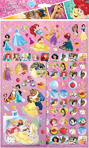 Paper Projects 810539 Aufkleber, Motiv: Disney-Prinzessin, 150 Stück