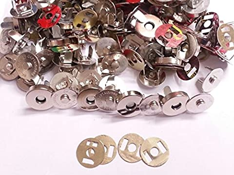 20 sets of Silver 18mm Magnetic Fastener Clasps, Snaps Bags Craft Sewing Buttons