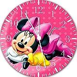 Disney Minnie mouse Wanduhr 25,4 cm Nice Geschenk und Raum Wand Decor E123