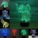 Decorazione sveglia della Tabella dell'interruttore di tocco del cavo del giocattolo del cambiamento di colore della luce dell'elefante per il regalo di Natale di hobby del padre ragazzo bambino