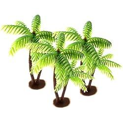 Amosfun 3 Stücke Kunststoff Kokospalme Miniatur Pflanze Töpfe Bonsai Handwerk Micro Landschaft DIY Dekor Freunde