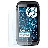 Bruni Schutzfolie für RugGear RG730 Folie, glasklare Bildschirmschutzfolie (2X)