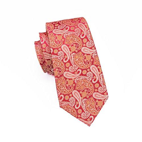 CAOFENVOO Herren Krawatte Rot