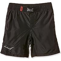 Everlast MMA8 - Pantalón corto de boxeo para hombre, color negro y blanco