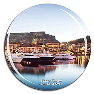 Victoria & Alfred Waterfront Cape Town South Africa Fridge Magnet 3D Crystal Glass Tourist City Travel Souvenir Collection Gift Strong Refrigerator Sticker
