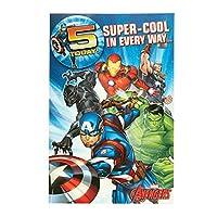 5th Birthday Card - Avengers Birthday Card - Birthday Card Aged 5 - Aged 5 Birthday Card Boy - Birthday Gifts Aged 5 Boy - 5th Birthday Gifts - Marvel Gifts - Marvel Birthday Card Aged 5