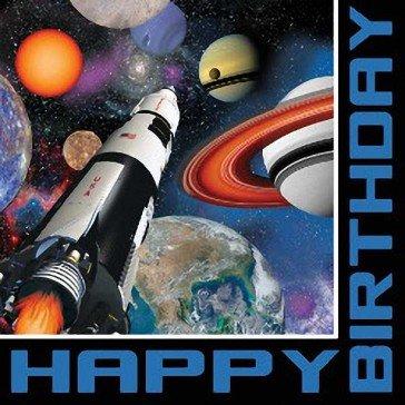 Creative Set Servietten Weltraum für Geburtstag -