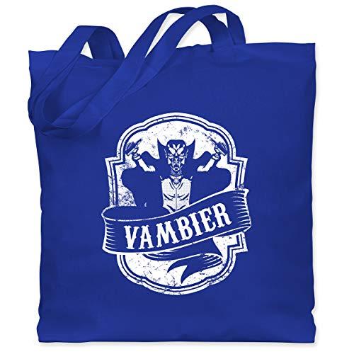 Statement Shirts - Vambier - Unisize - Royalblau - WM101 - Stoffbeutel aus Baumwolle Jutebeutel lange Henkel