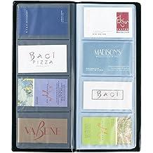 Rapesco - Tarjetero con capacidad para 80 tarjetas de visita, color negro