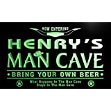 pb046-g Henry's Man Cave Cowboys Bar Neon Light Sign Barlicht Neonlicht Lichtwerbung