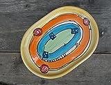Servierplatte Schlemmerplatte oval in crazy