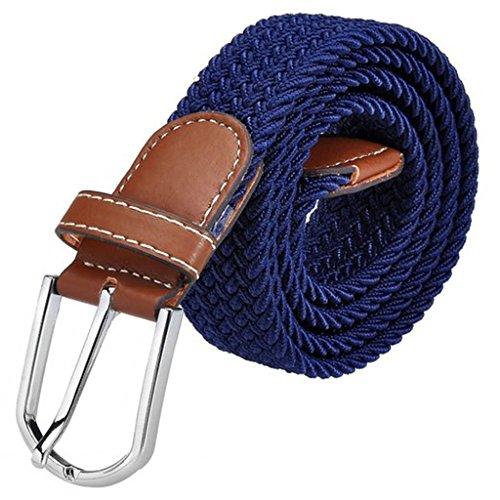 Jeracol Cinture Tela Elasticizzato Lavorato a telaio elastico per gli uomini donne molti colori disponibili,115-120cm