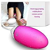 Mobile App Fernbedienung Weibliche Vibrierende Ei-Vibrator Ein Knopf Heizung 7 Frequenz-Vibration USB-Ladegerät Mute Effekt Ausgezeichnete Masturbation Requisiten