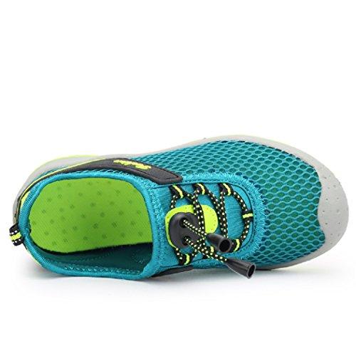KISCHERS Mesh Geschlossene Sandalen Outdoor Trekking Schuhe Kinder Jungen Mädchen Wander Abriebfeste Sohle Sneaker Sommer Türkis