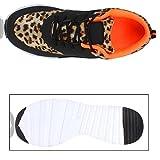 Damen Sport Runners Sneakers Lauf Fitness Trendfarben Sportliche Schnürer Schuhe 130884 Leopard 38 Flandell