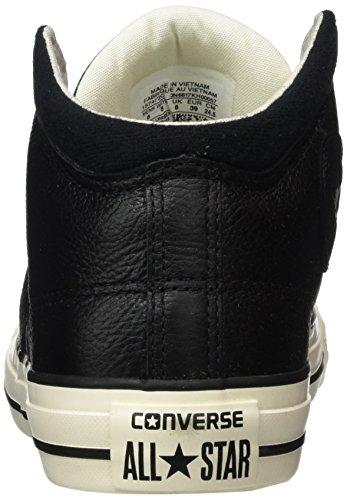 Converse Ctas High Street Hi Black/Black/Egret, Sneaker Alte Unisex - Adulto Nero (Black/Black)