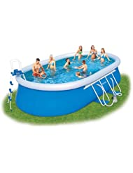 Bestway Oval Fast Set Above Ground Pool - Blue, 20 Ft