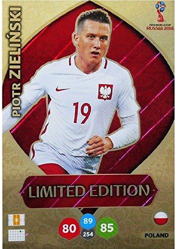 Panini Adrenalyn XL WM 2018 Russland - Zielinski Polen Karte limited Edition (Limited Wm-karten Edition)