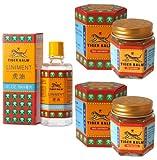 Tiger Balm Liniment (Liquid) 28ml + 2 Jars of Tiger Balm Red Ointment 30g/Jar