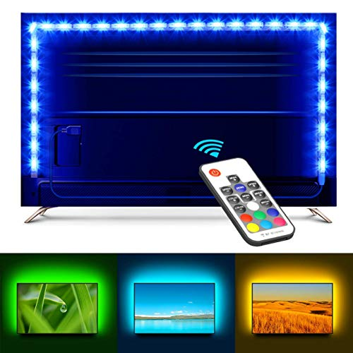 LED Tira de TV Remoto, Minger Tiras LED Iluminación 2M USB para HDTV, Desktop PC de 40-60 Pulgadas, Retroiluminación de TV(NO Impermeable)