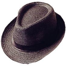 Westeng Sombrero de Paja Anti-Sol Sombrero de Jazz Anti-UV Amantes del  Sombrero 34d265f55a4