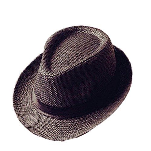 Westeng Sombrero de Paja Anti-sol Sombrero de jazz Anti-UV amantes del  sombrero 1787b78a754