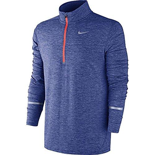 Nike Dri-Fit Element Herren Running Jacke Größe L Deep Royal Blue/Heather/Bright Crimson (Nike Jacke Element)