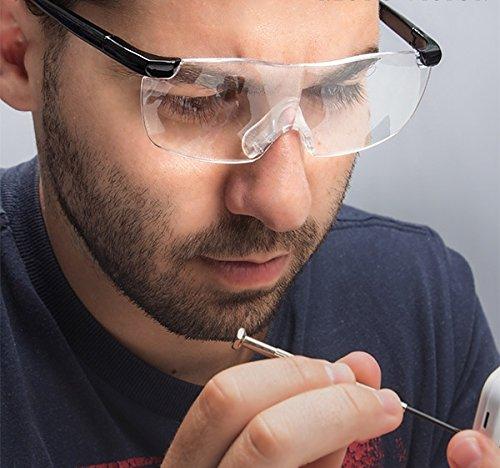 GKA Vergrößerungsbrille Lupe 160 % Vergrößerung ergonomisch Brille Lesebrille Arbeitsbrille