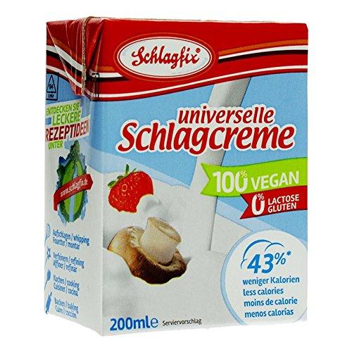 Schlagfix Schlagcreme Sahne ungesueßt 200ml 100{533c69b0e2427380925c2931257b9919183c00543ed57aab1d19439b41d3c672} vegan, glutenfrei & laktosefrei