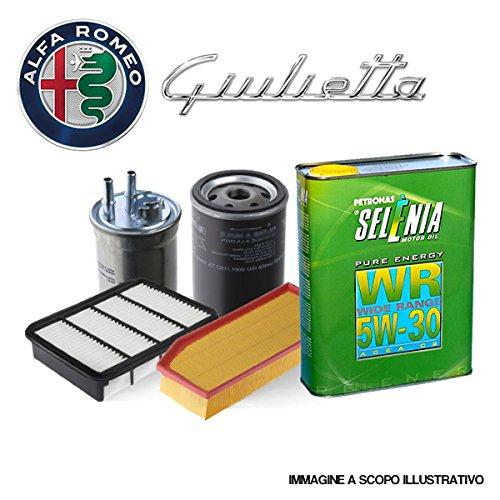 Kit tagliando Originale, kit quattro filtri e olio motore Selenia WR 5W30 (KF00757/fo)