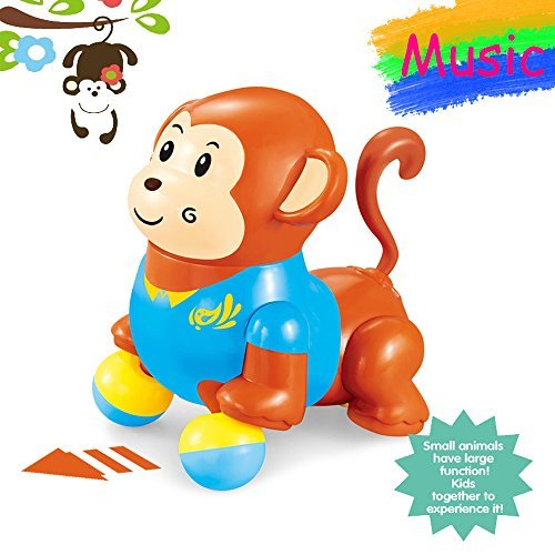 BigNoseDeer Dancing Singing Monkey Musical Toys For Baby Toddler 5.3 inch Walking Sound Monkey