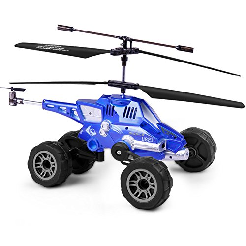 Drohnen Mit Drei-In-One Air-To-Air-Kämpfer Fernbedienung Flugzeug Ladung Kämpfer Kind Boy Aircraft,Blue -