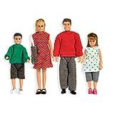 Lundby 60.8059.00 - Puppenfamilie, Classic, Minipuppen mit Zubehör