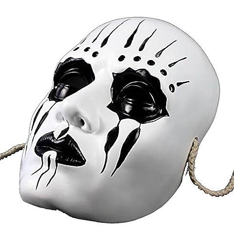 Vinawo Slipknot Joey Maske Cosplay Thema Maske Harz Maskerade Maske Maskenball Maske Karneval Maske für Halloween Halloween (Purge-kostüme Für Halloween)