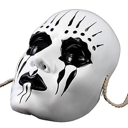 Vinawo Slipknot Joey Maske Cosplay Thema Maske Harz Maskerade Maske Maskenball Maske Karneval Maske für Halloween Halloween Kostüm (Die Purge 2 Maske)