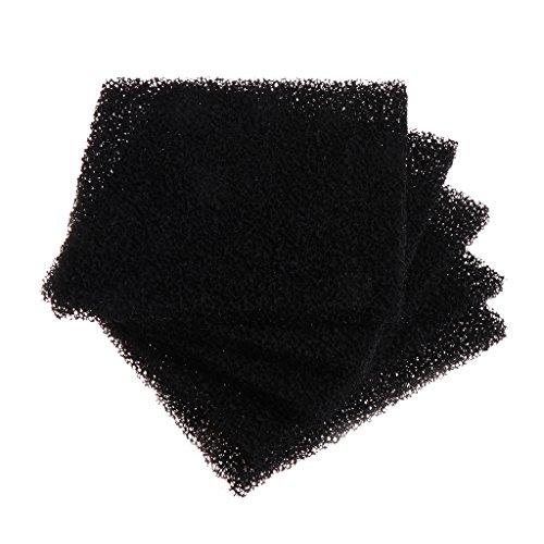LANDUM 5 Stück Universal Schwarz Aktivkohle Schaumstoff Schwamm Luftfilter Imprägnierte Unterlage