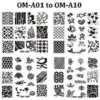 alallti 10pcs nuovo stampo per smalto per unghie nail art Stamping Piatti Fashion Design Timbro Timbro Stencil DIY Manicure strumenti