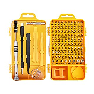 Marqie 110 in 1 Schraubendreher Set Magnetische Werkzeugset Präzision Reparatur Tool Kit Feinmechanik für PC, Laptop, Tablet, Handy, Smartphone, Brillen, Uhr mit Schlitz, Kreuzschlitz, Torx